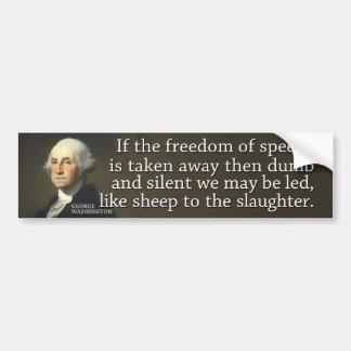 Washington: Si se lleva la libertad de expresión Pegatina Para Auto