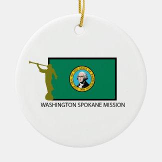 WASHINGTON SPOKANE MISSION LDS CTR CERAMIC ORNAMENT