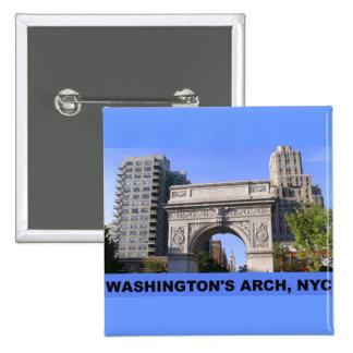 Washington Square Arch at Washington Square Park Pinback Button