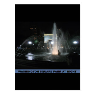 Washington Square Park at Night, NYC Postcard