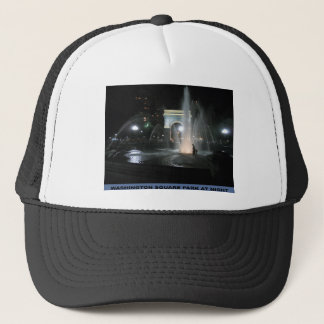 Washington Square Park at Night, NYC Trucker Hat