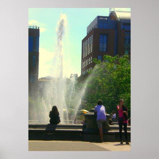 Washington Square Park Fountain Poster