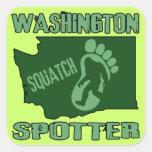Washington Squatch Spotter Square Sticker