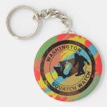 Washington Squatch Watch Basic Round Button Keychain