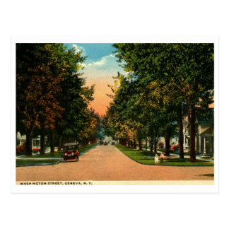 Washington St., Geneva, New York 1917 Vintage Postcard