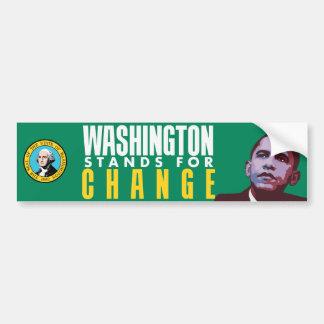 Washington Stands for Change - Bumper Sticker Car Bumper Sticker