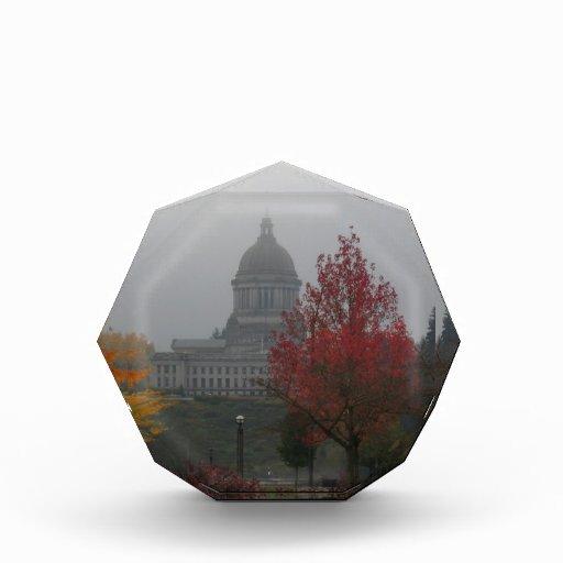 Washington State Capitol in Fog - photograph Award