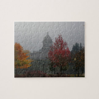 Washington State Capitol in Fog - photograph Jigsaw Puzzles