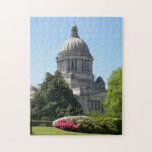 """Washington State Capitol Photo 252 Piece Jigsaw Puzzle<br><div class=""""desc"""">A challenging,  252 piece jigsaw puzzle that features a scenic photo image of the Olympia State Capitol Building. Puzzle size is 11 x 14 inches. Fun for the whole family! To see other products we have to offer,  click on the Northwestphotos store link.</div>"""