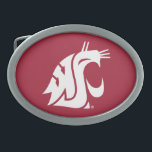 """Washington State Cougar Belt Buckle<br><div class=""""desc"""">Check out these official Washington State Cougar products! All of these products are customizable with your name, club, sport, or class year on Zazzle.com. Show off your Cougar pride by getting your WSU gear here. These products make perfect gifts for the Washington State student, alumni, family, friend, or fan in...</div>"""