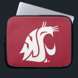 """Washington State Cougar Laptop Sleeve<br><div class=""""desc"""">Check out these official Washington State Cougar products! All of these products are customizable with your name, club, sport, or class year on Zazzle.com. Show off your Cougar pride by getting your WSU gear here. These products make perfect gifts for the Washington State student, alumni, family, friend, or fan in...</div>"""