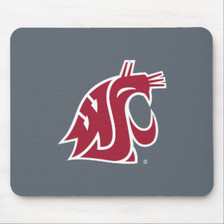 Washington State Cougar - Red Mouse Pad