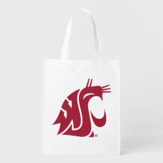 Washington State Cougar Reusable Grocery Bag