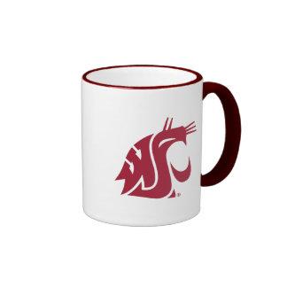 Washington State Cougar Ringer Coffee Mug