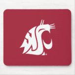 Washington State Cougar - White Mouse Pad
