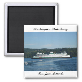 Washington State Ferry 2 Inch Square Magnet