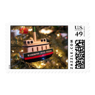Washington State Ferry Ornament in Lights Postage