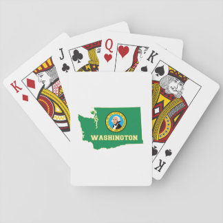 Washington State Flag and Map Playing Cards