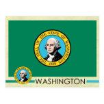 Washington State Flag and Seal Post Card