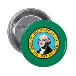 Washington State Flag Button