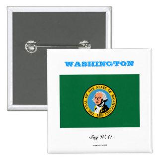 WASHINGTON state flag 2 Inch Square Button