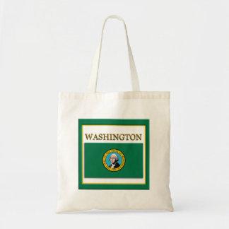 Washington State Flag Design Budget Canvas Bag