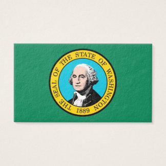 Washington State Flag Design Business Card