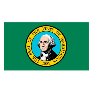 Washington State Flag Design Double-Sided Standard Business Cards (Pack Of 100)
