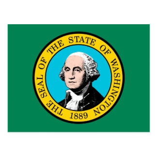 Washington State Flag Design Postcard