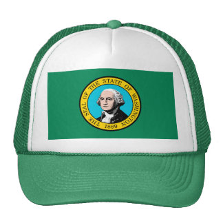 Washington State Flag Design Trucker Hat