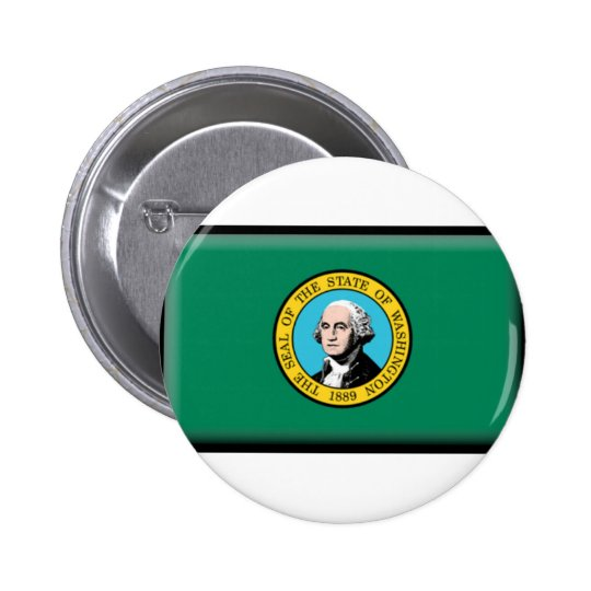 Washington State Flag Pinback Button