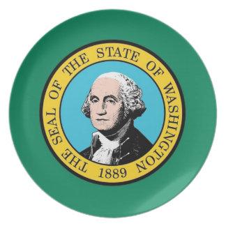 Washington State Flag Plate