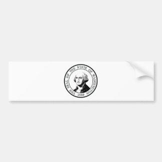 Washington State Flag Posterized Bumper Sticker