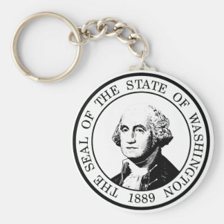 Washington State Flag Posterized Keychain