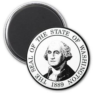 Washington State Flag Posterized Magnet
