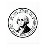 Washington State Flag Posterized Post Card