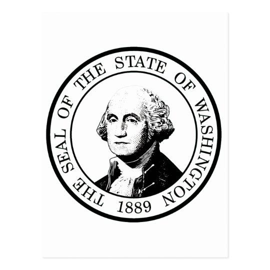 Washington State Flag Posterized Postcard