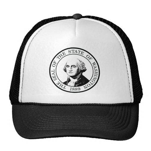 Washington State Flag Posterized Trucker Hat