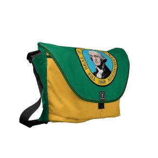 Washington State Flag Rickshaw Messenger Bag