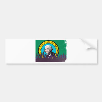 Washington State Flag with Audience Bumper Sticker