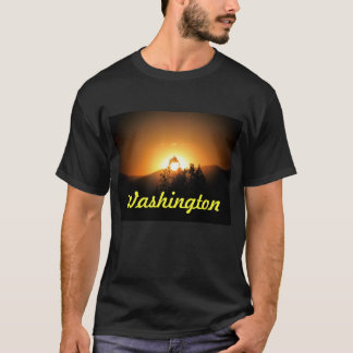 Washington State Flaming Tree Sunset T-Shirt