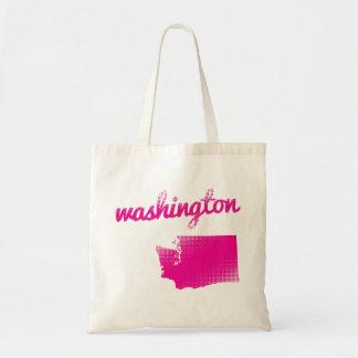 Washington state in pink tote bag