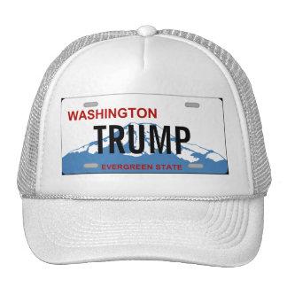 Washington state license plate Trump custom design Trucker Hat