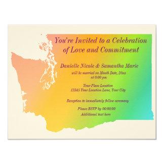 Washington State Pride 4.25x5.5 Paper Invitation Card