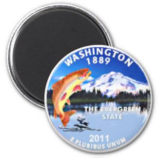 Washington State Quarter 2 Inch Round Magnet