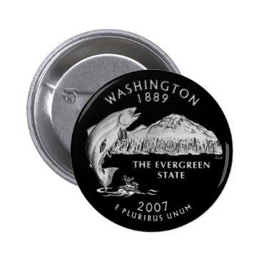 USA Themed Washington State Quarter Button