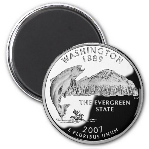 Washington State Quarter Fridge Magnet
