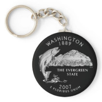 Washington State Quarter Keychain