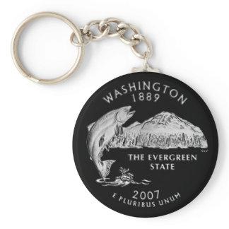 Washington State Quarter Keychain