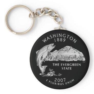 USA Themed Washington State Quarter Keychain